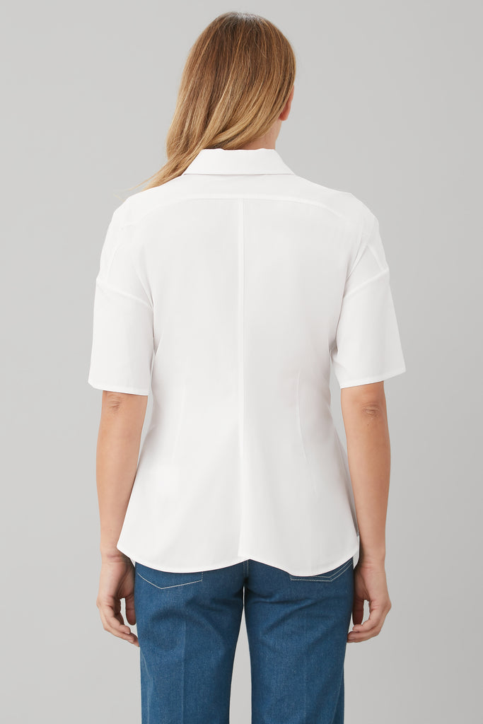 BASQUE SHIRT IN WHITE POPLIN