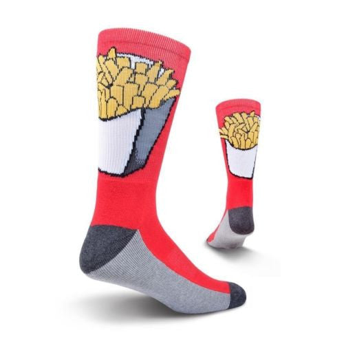Men's Red Fries Athletic Crew Socks