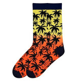 Men's Palm Tree Crew Socks