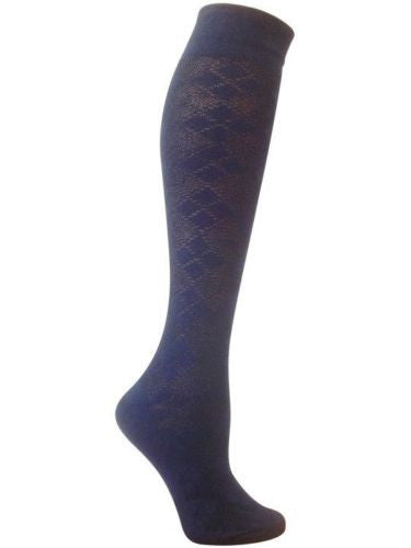 Bonnie Blue Argyle Knee High Socks Eco Friendly