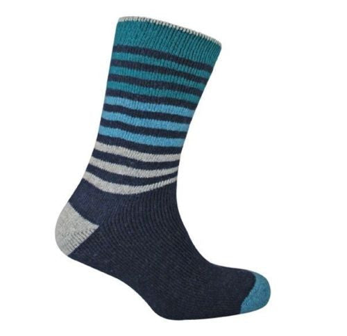 Men's Urban Knit Stripe Wool Boot Socks