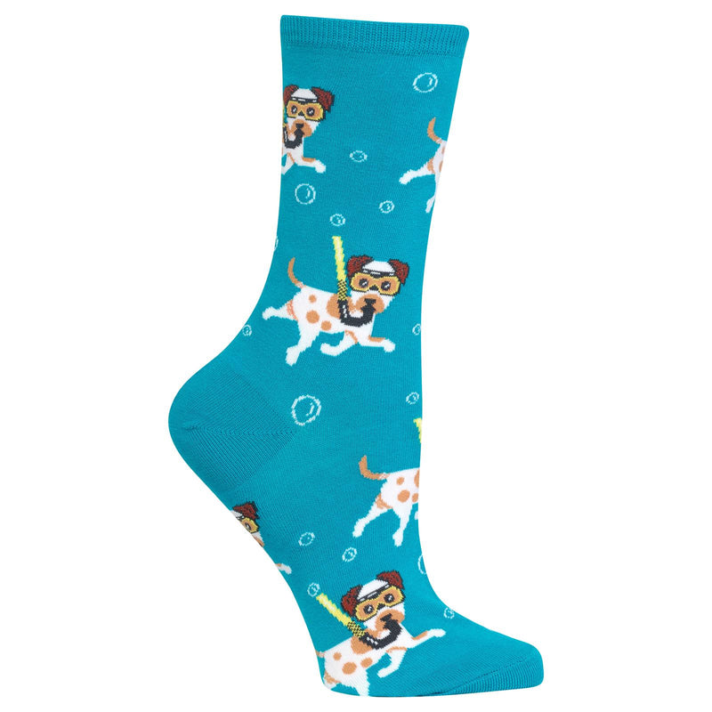 Women's Snorkeling Dogs Sock