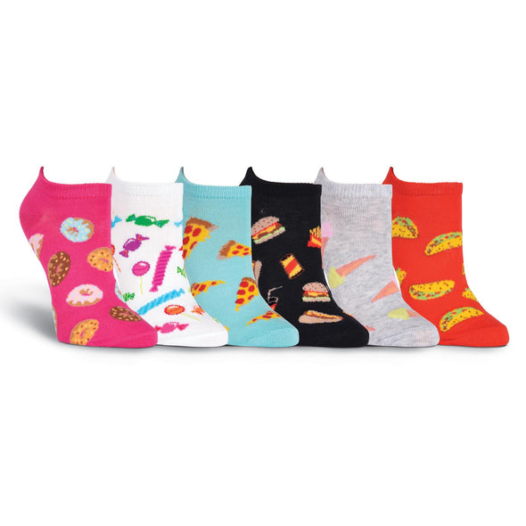 Women's Junk Food No Show Socks 6 Pair