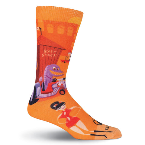 Men's Shag Bait Shack Crew Socks