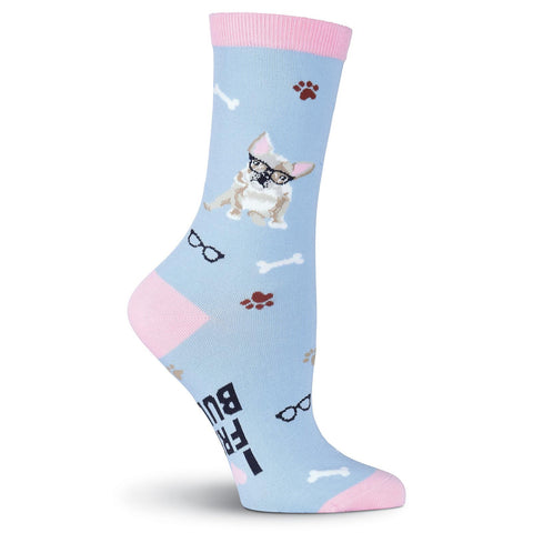 Women's French Bulldog Crew Socks
