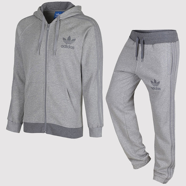 adidas Originals SPO Trefoil Fleece Tracksuit - Black and Grey