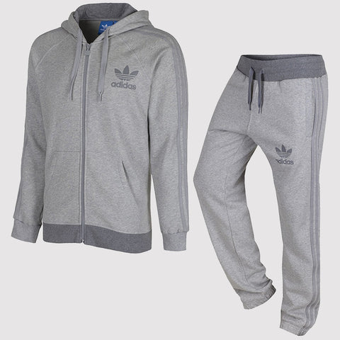 cb9361f3345a adidas Originals SPO Trefoil Fleece Tracksuit - Black and Grey