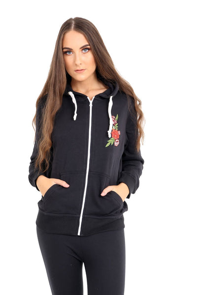 Womens Sweatshirt Zip Jacket Coat Hoodie Jumper