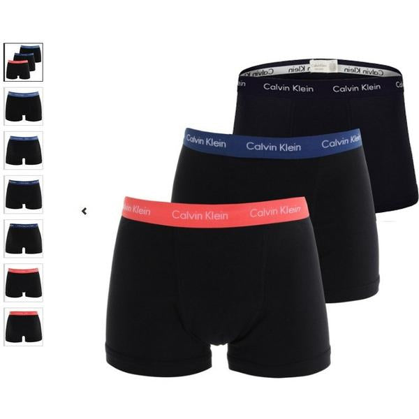 Calvin Klein 3 pack Boxers Black With Contrast Waste