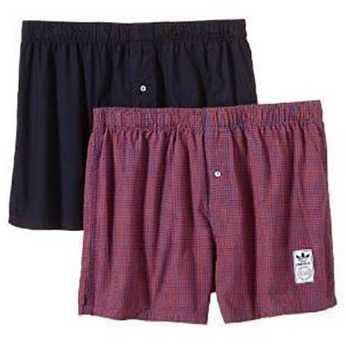 Men Adidas Checkered Boxer 2xpair