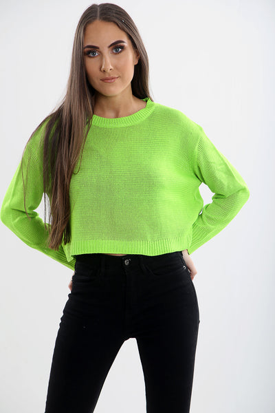 Women Top Light Weight Loose Fit Cropped Jumper(Five Colours)