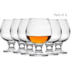 Brandy Glasses Crystal Glasses Set of 6 Cognac Glasses - 390ml (13.7oz), Whiskey Glasses Set of 6