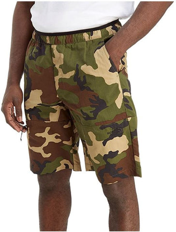 North Face Z-Pocket Woven Camo Mens Leisure Training Shorts
