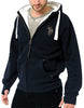Polo New Men's Fur Hoodie Fleece Zip Up Hoodie Jacket Fur Hooded Zipper Top