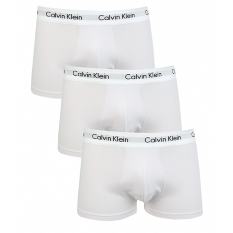 Calvin Klein 3 Pack Low Rise Trunks/white - Cotton Stretch