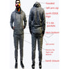 Men's Tracksuit Slub Yarn in fleece
