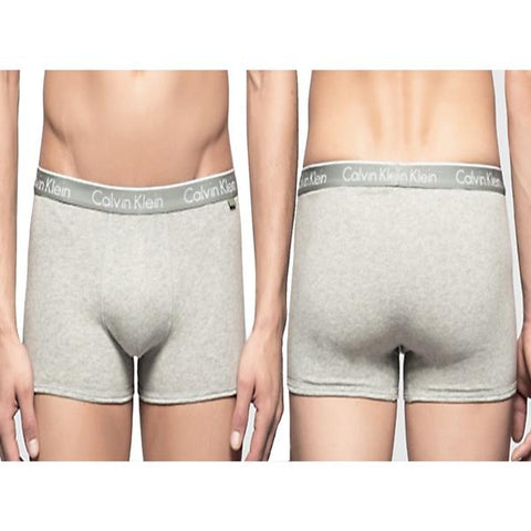 Calvin Klein Underwear Men's Pack Of 3 Trunk Shorts Grey