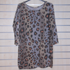 Women Tunic Boat Neck Leopard Print  Top