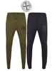 ISLAND Mens Skinny Slim Fit Joggers Jogging Bottom Fleece Gym Pants Zip Pockets