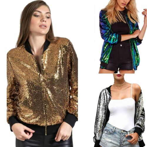 Women Sequin Glitter Jacket