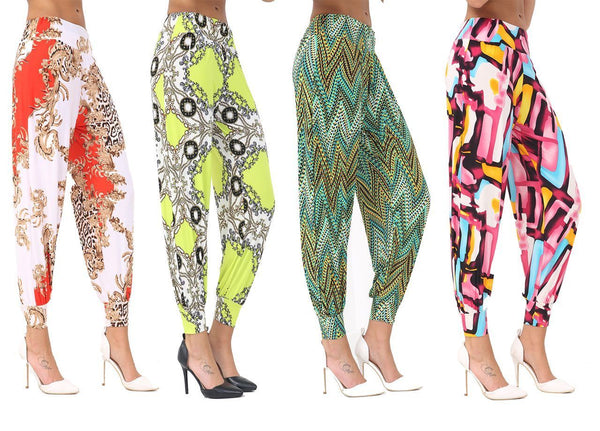 Women's Full Length Harem Pants Baggy Alibaba Printed Trousers