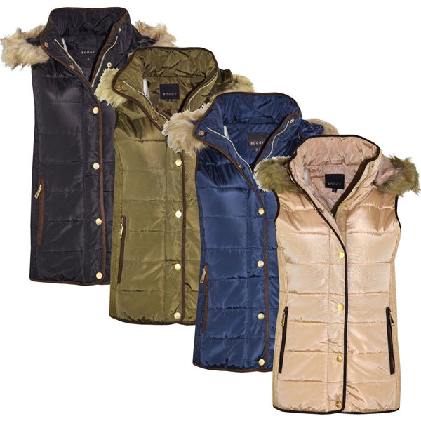 Womens Gilet Body Warmer Padded Puffer  Sleeveless Winter Coat