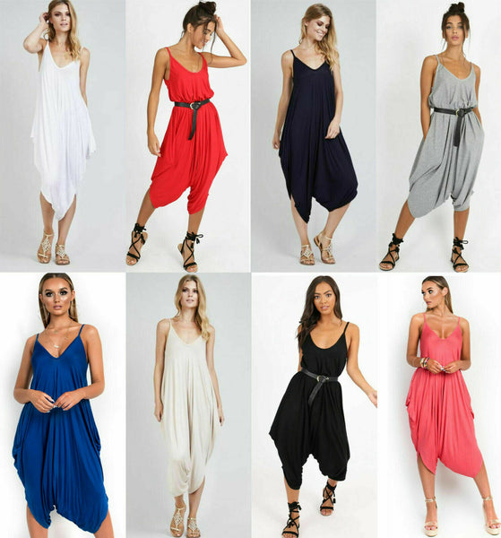 Women Cami Strappy Baggy Jumpsuit