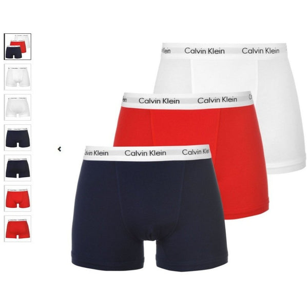 Calvin Klein Boxers 3 Pack, Men Boxers, Low Rise Trunk, Underwear