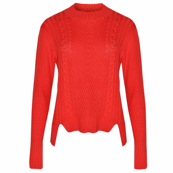 Women Red Ex Chainstore Knitted Jumper Sweater