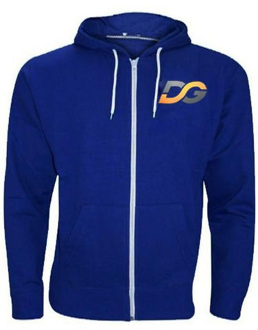 DG New Men's Hoodie Fleece Zip Up Hoodie Jacket Sweatshirt Hooded Zipper Top
