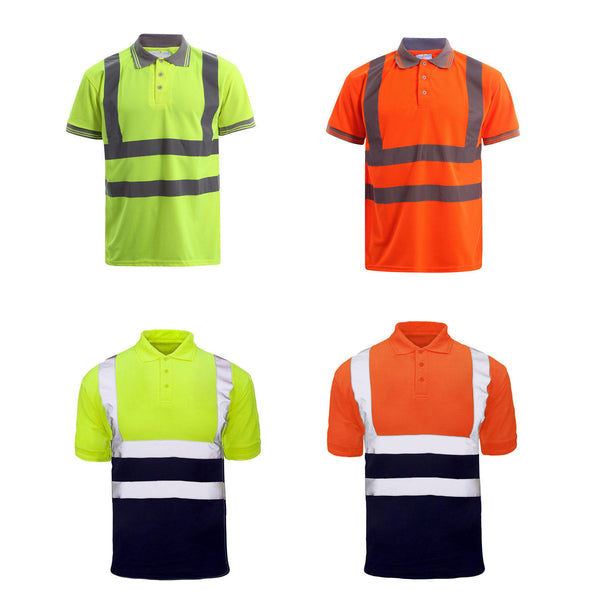 Custom Printed Hi Vis Polo Short Sleeve Shirt
