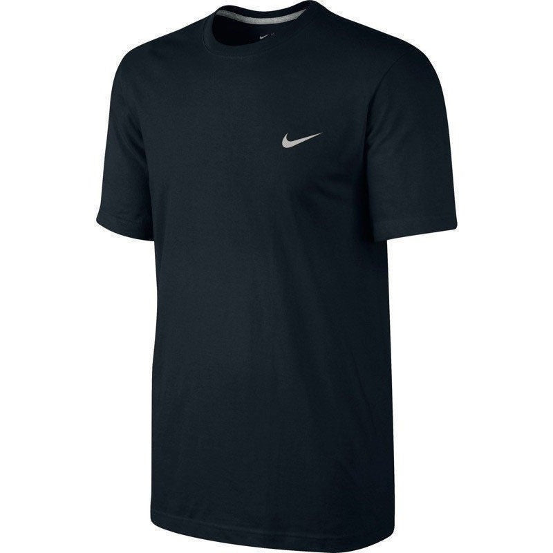 3caf7100 ... Nike Men T-Shirt Embroidered Swoosh Tee Sports Gym Fitness Short Sleeve  Shirt ...