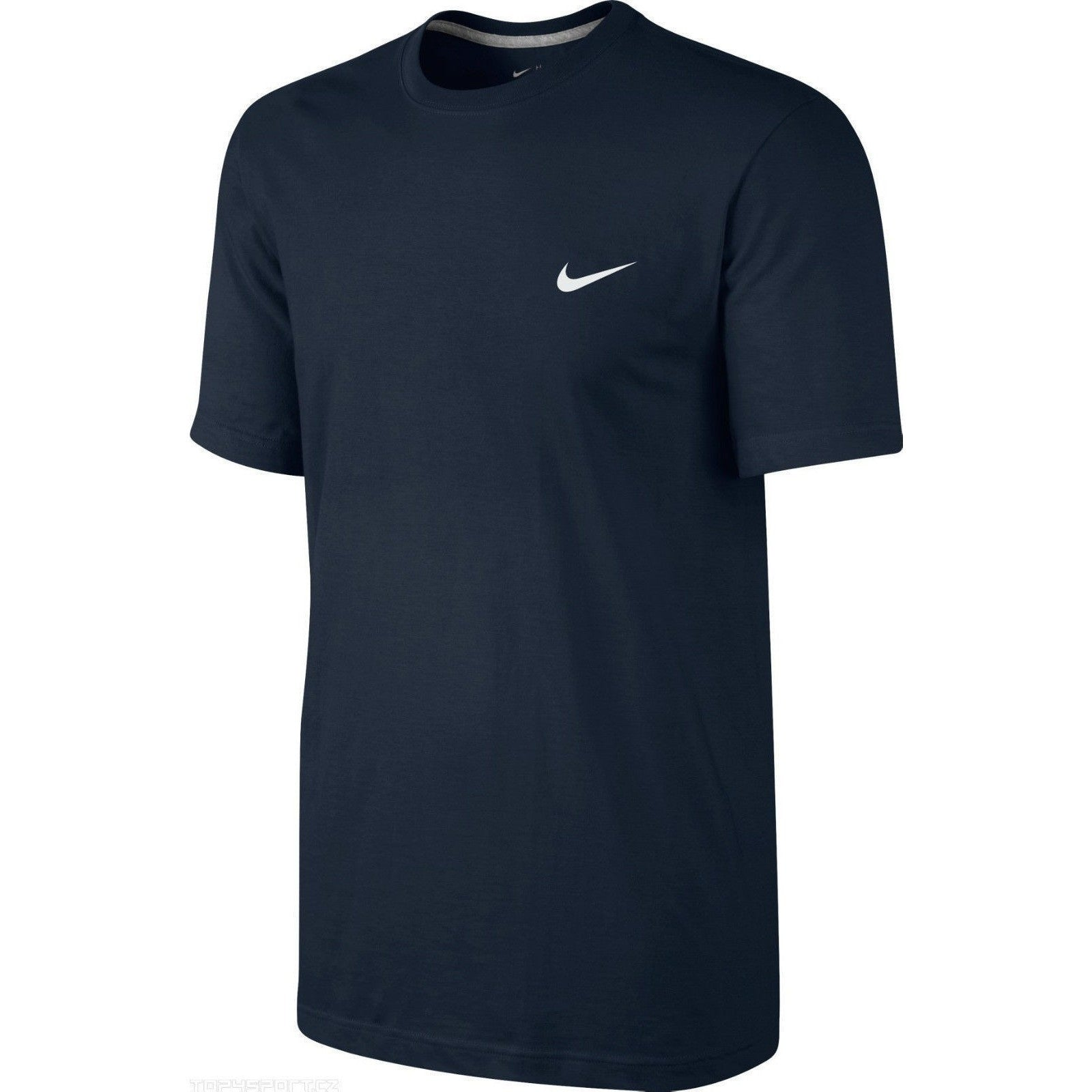 MENS NIKE EMBROIDERED SWOOSH BLACK SHORT SLEEVED T SHIRT TOP