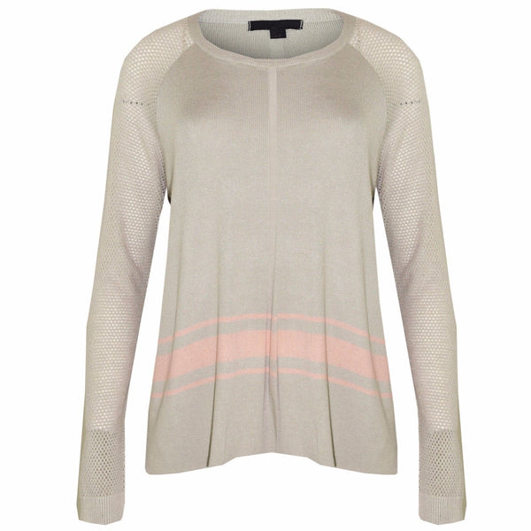Women Grey Ex Chainstore Knitted Jumper
