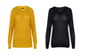 Women Black Mustard  Knitted Jumper Sweater Pullover