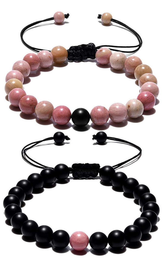 pink adjustable distance bracelets