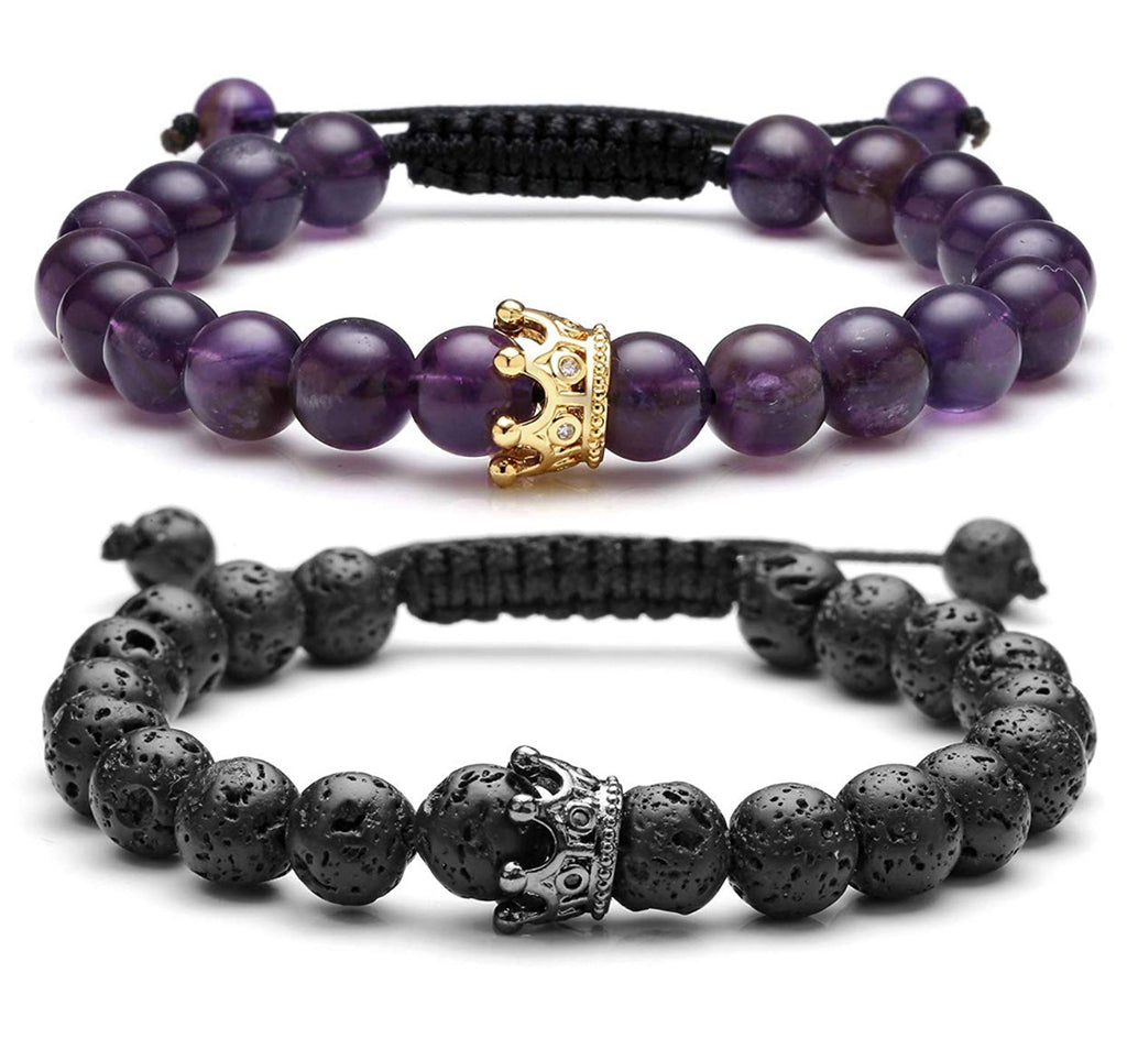 purple adjustable distance bracelets