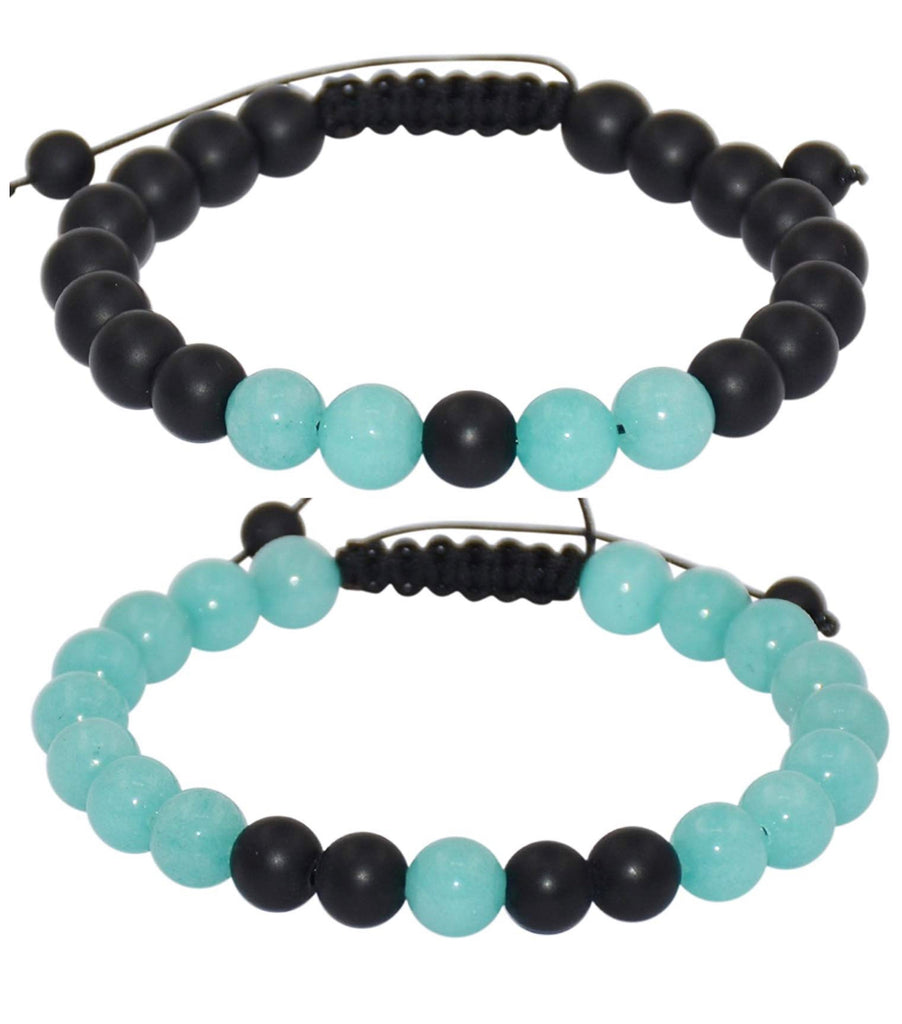 blue adjustable distance bracelets