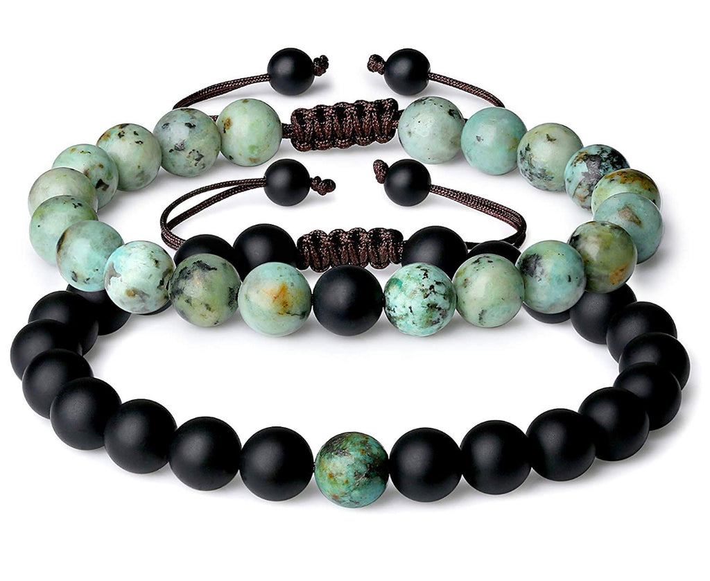 green adjustable distance bracelets