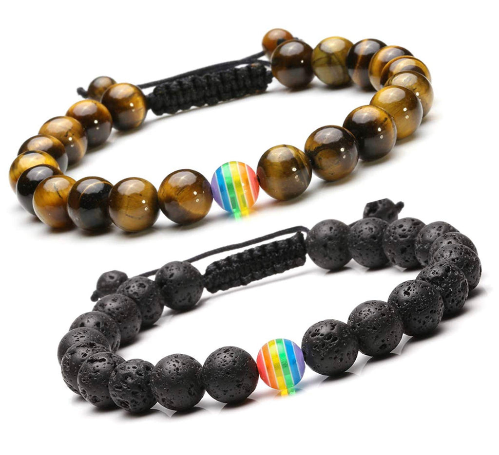 brown adjustable distance bracelets