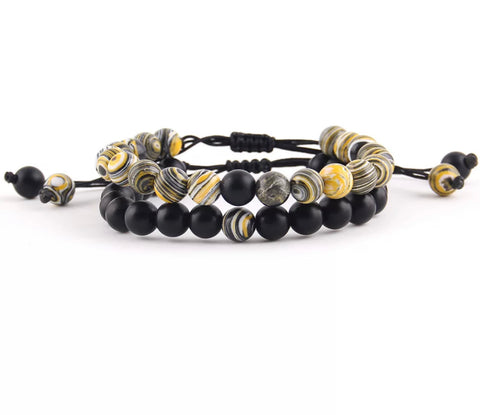yellow adjustable distance bracelets