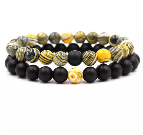 yellow distance bracelets