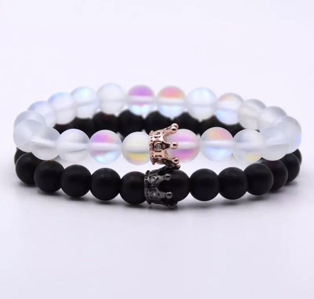Classic Crown Distance Bracelets - Clear