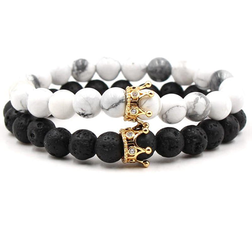 Classic Crown Distance Bracelets - Gold