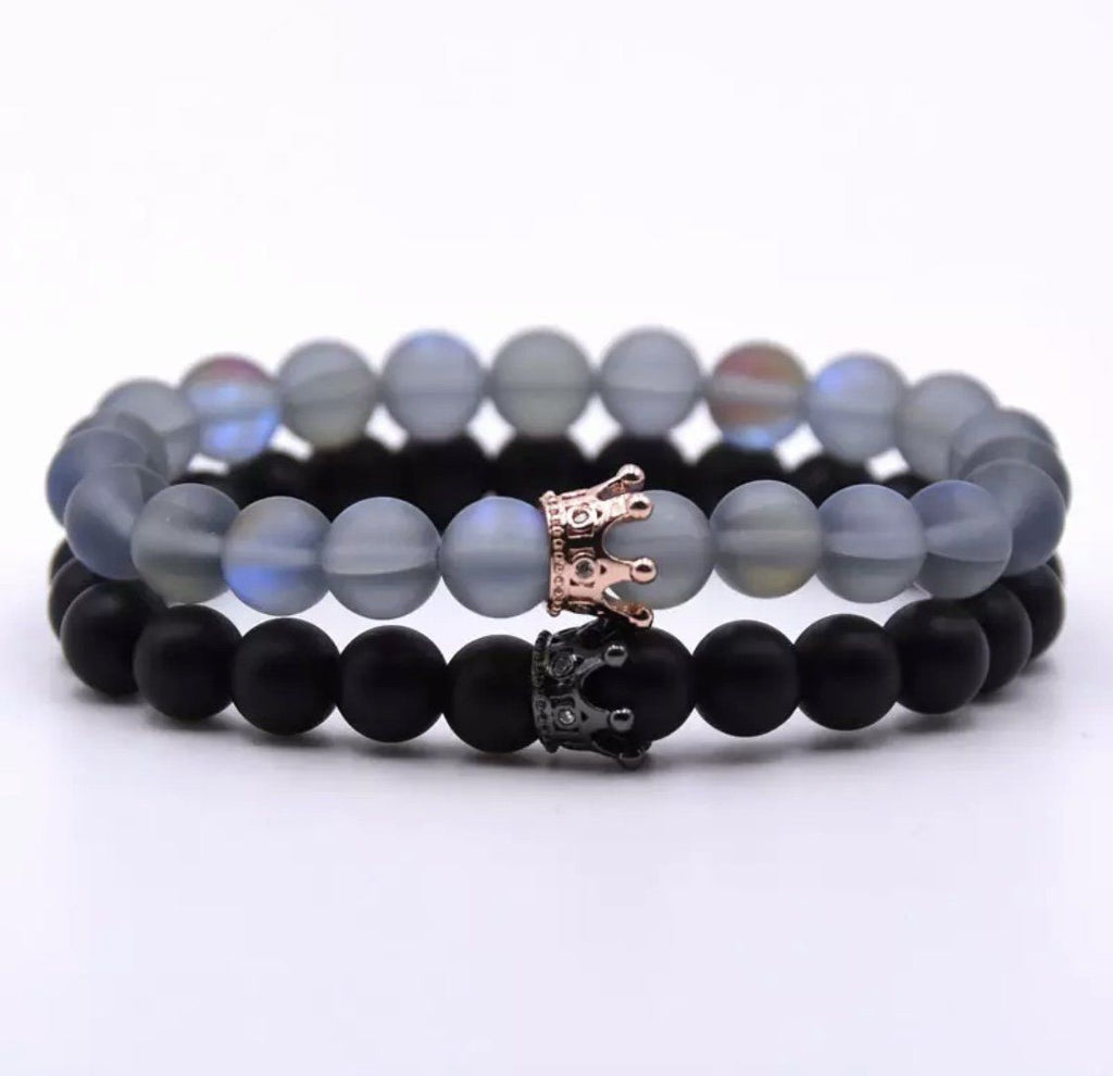 Classic Crown Distance Bracelets - Grey