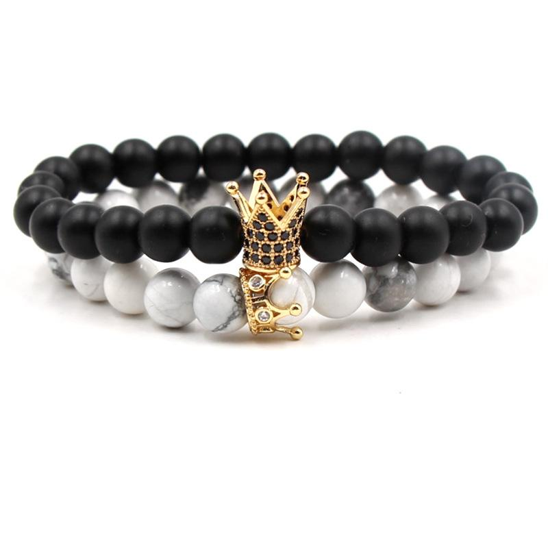Crown Distance Bracelets - Gold