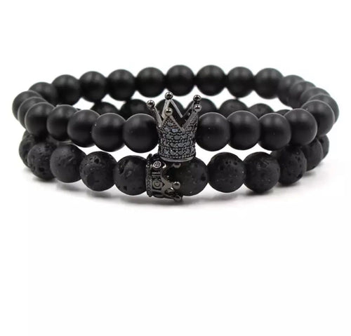 Crown Distance Bracelets - Ninja Black