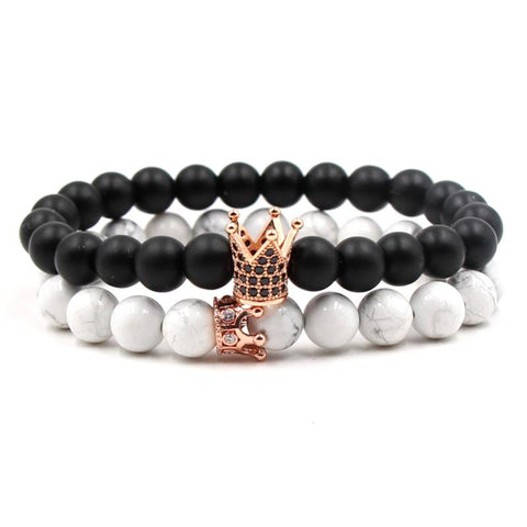 Crown Distance Bracelets - Rose