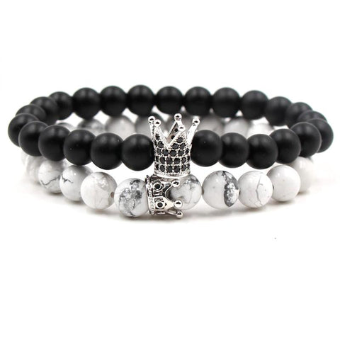 Crown Distance Bracelets - Silver