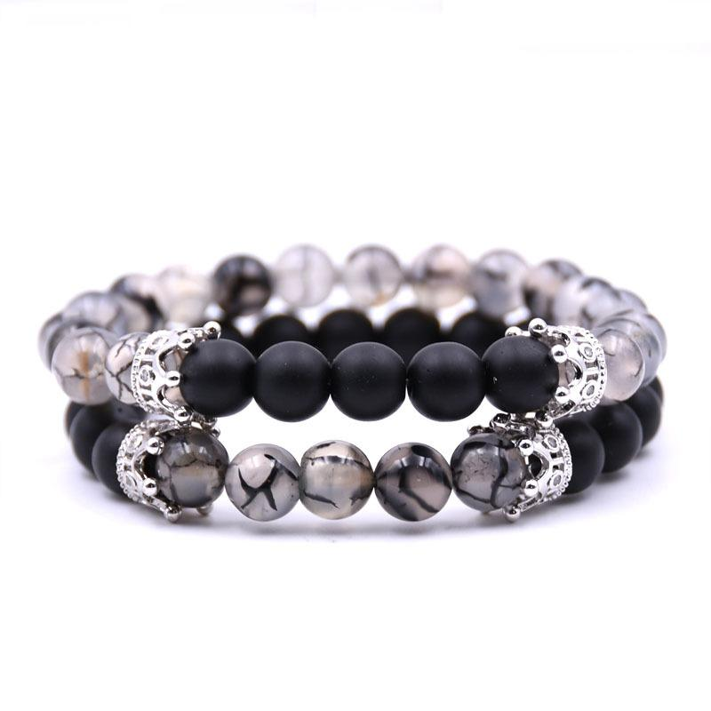 Distance Bracelets - Noble Crown Distance Bracelets - Onyx